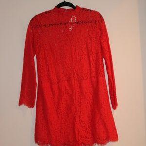 H&M Red Lace Romper